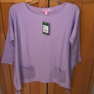 Lilly Elba Sweater in Light Lilac Verbena